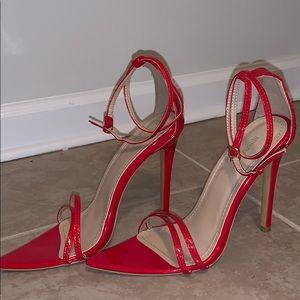 Red Heel Sandals